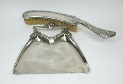 Art Nouveau Tischkehrset Dustpan And Brush J.p.kayser And Son Approx. 1900