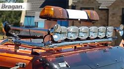 Roof Bar + Spots + Leds + Beacons + Air Horns + Clamp For Daf Cf Low 2014+ Truck