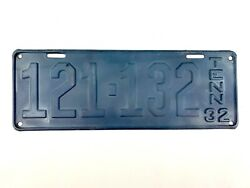 Tennessee 1932 Vintage License Plate Rare Tn Primed Antique Car Tag Man Cave