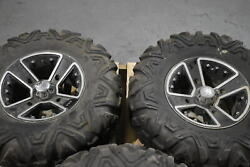 Used Pair Of Dirt Tamer A/t Tires For Polaris Rzr Utv 26x9.00-12 With Rims 6 Ply