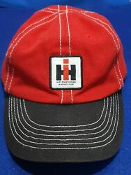 Mccormick Farmall Red And Black Hat Baseball Cap Cnh International Tractor Vintage
