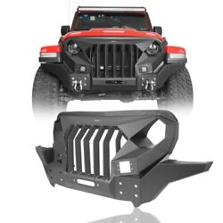 Mad Full Steel Front Grill Bumper Combo Fit 18-21 Jeep Wrangler Andgladiator Jl/jt
