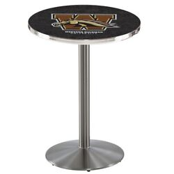 Holland Bar Stool Co. L214s3628westmi 36 Stainless Steel Western Michigan Pub