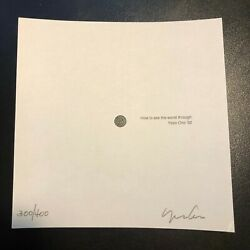 Yoko Ono 1992 Art Piece Hole To See The World Through Signed Numbered 300/400