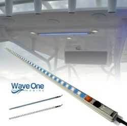 Wave One Marine   T-top Led Courtesy Boat Light 24   Dual Color   White And Blue