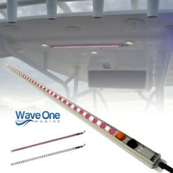 Wave One Marine | T-top Led Courtesy Boat Light 24 | Dual Color | White And Red