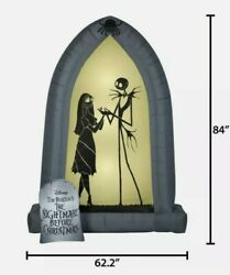 Nightmare Before Christmas Jack And Sally 7 Ft Arch Led Airblown Inflatable Gemmy