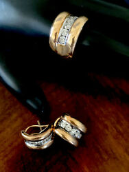 Vintage 14k Diamond Ring And Earring Set. Great Mothers Day Gift