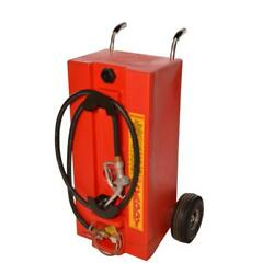 28 Gal. Gas Caddy Gravity Fed System With 10 Ft. Hose Portable Fuel Transporting