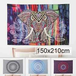 210x150cm Extra Large Tapestry Wall Hanging Mandala Psychedelic Bohemian Rug US