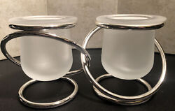 Partylite Gemini Silver Plated Pre-owned Retired Candle /tealight Holder