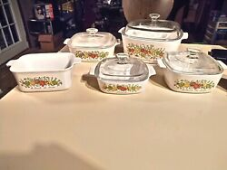 Vintage Corning Ware Spice Of Life Set Rare 70and039s Collectibleandnbsp