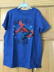 NWT Disney Store Spiderman Boys Shirt Top Blue 5 67 810 1214