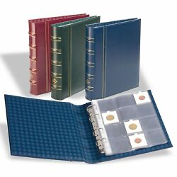 Lighthouse Optima Classic Blue Binder And Slipcase Album +10 Coin 2x2 Holder Pages
