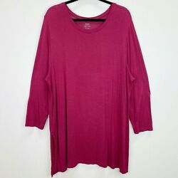 Old Navy Tunic Berry Blouse Top Shirt Size XXL Womens $12.02