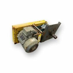 Used 12andquot Screw Conveyor Drive Assembly 10hp Motor W/ Dodge Reducer 14.88...