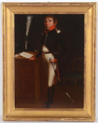 Napoleonic Infantry Officer J. Wild, Native Of St. Gallen, Oil Painting,c1805