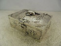 Quality Arts And Crafts Planished Solid Silver Table Box Birmingham 1903