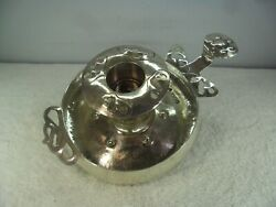W G Connell Arts And Crafts Handmade Solid Silver Chamberstick London 1901