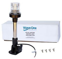 Wave One Marine | Led All Around Anchor Boat Light | Uscg 3nm Adjustable 9.5
