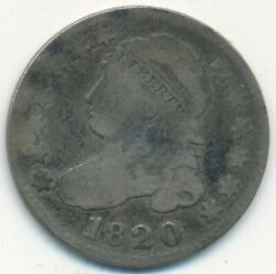 1820 Capped Bust Silver Dime-nice Circulated Silver Dime-ships Free Inv3