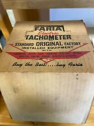 Vintage 1960and039s Faria Tachometer New Old Stock