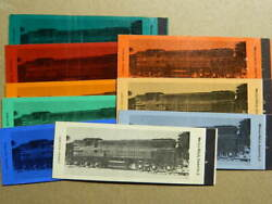 9 Diff. 1950s Norfolk Southern Railroad 1601 Baldwin Blw As-416 Matchbook Cover