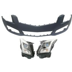 Headlights Lamps Set Of 3 Front 23236366 23236365 22878683 Left-and-right