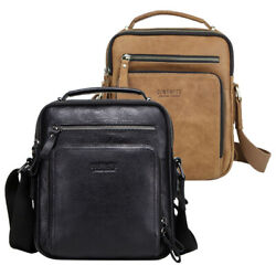 Genuine Leather Shoulder Bag for Men Messenger Bag Gents Hiking Crossbody Bag $42.90