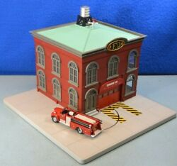 Mth 30-9157 Rail King O Scale Operating Fire House - Very Good Condition In Box
