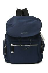NEW Calvin Klein Kimberly Nylon Backpack Navy Blue NWT $188 Drawstring Pockets $67.00
