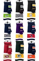 Nfl Scarf And Gloves Gift Set Licensed Team Colors New