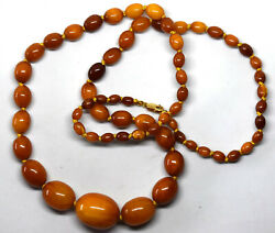 Natural Butterscotch Amber Necklace With 14k Gold Clasp