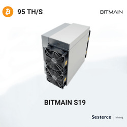 Cloud Mining Contract Real Antminer S19+ 100th Sha256 Bitcoinbsvbch.. 24 Hours
