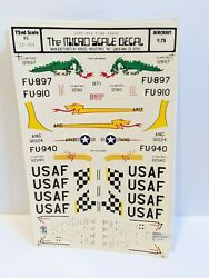 72nd Micro Scale Decal 72-103 Usaf Sabre Huff Transfers Decals Aircraft Dragon