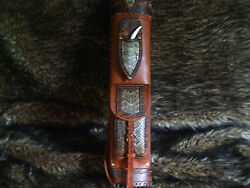 Rattlesnake Broad-head Knife Leather Back Quiver/traditional Archery