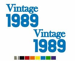 2 Vintage 1989 Funny Fun Vinyl Decals - Custom Size Color For Cars,trucks