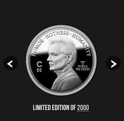 2020 Bill Murray Kcco Bfm Conch Republic Island Solid Silver 1 Oz Coin Sold Out