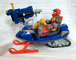 Fisher Price Rescue Heroes Bob Sled With Arctic Tracker Snowmobile W/ Ice Drill