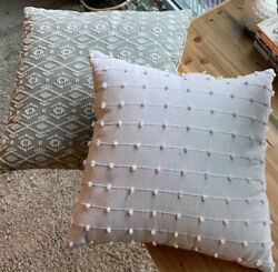 Two Indoor Couch Pillows Silver Color
