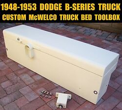 1948 - 1953 Dodge B-series Pickup Custom Heavy Duty Mcwelco Truck Bed Toolbox 48