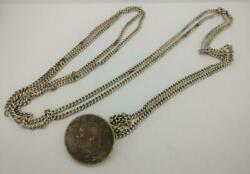Preowned Vintage China Coin Chain Belt Jewellery Sterling Silver J116