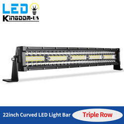 450w 22inch Curved Led Light Bar Tri-row Driving Ute Truck Suv 4wd Atv Boat 24''