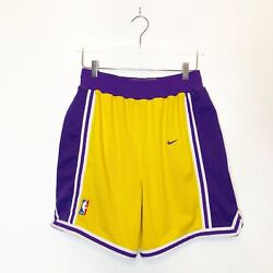 Los Angeles Lakers Nike Sports Vintage Authentic Basketball Shorts Men's 34 Rare