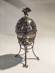 Antique Egg Made Of Silver 84 Zolotniki 1892 Year Russian Empire