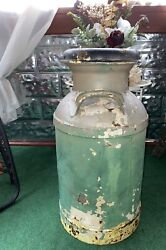 Vintage Large Dairy Milk Can Jug Cream Farm Cow Real One Heavy Duty Patina