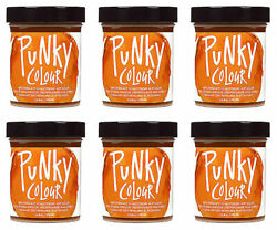 6 X Jerome Russell Punky Colour Semi-permanent Hair Color Flame - 1432