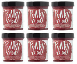 6x Jerome Russell Punky Color Semi-permanent Hair Color Cherry On Top