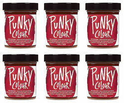 6x Jerome Russell Punky Color Semi-permanent Hair Color Vermillion Red - 1426