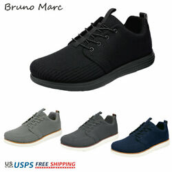 Bruno Marc Men#x27;s Fashion Sneakers Low Top Knit Breathable Slip on Casual Shoes